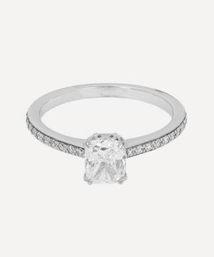 White Gold Hazeline White Diamond Solitaire Ring