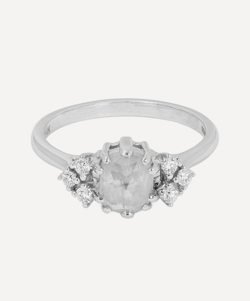 Anna Sheffield - White Gold Bea Arrow Diamond Ring