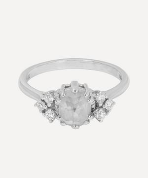 White Gold Bea Arrow Diamond Ring
