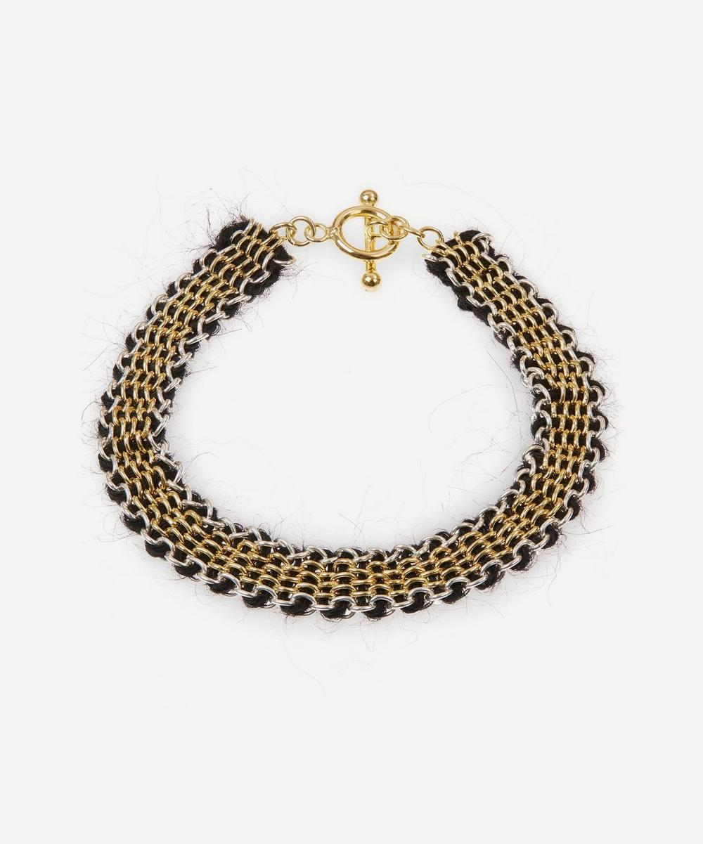 Stephanie Schneider - Gold-Plated Mohair Chain Bracelet