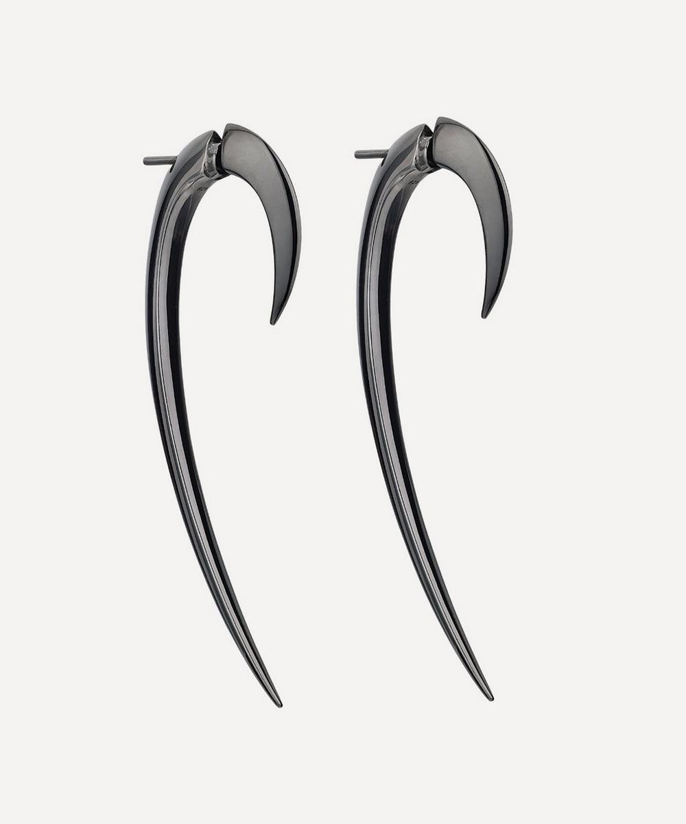 Shaun Leane - Black Silver Rhodium Large Hook Earrings