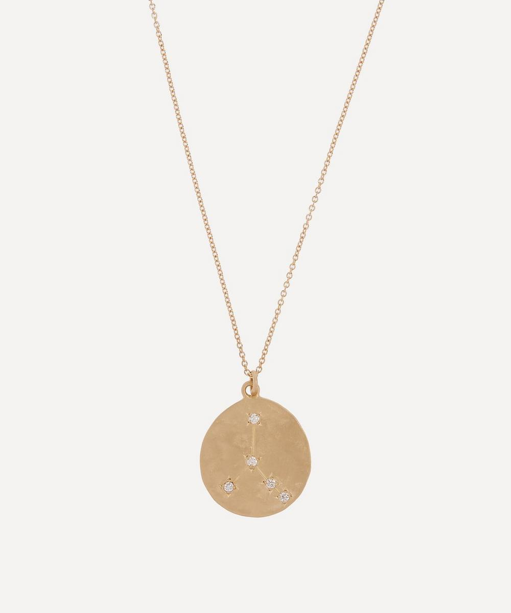 Brooke Gregson - Gold Cancer Astrology Diamond Necklace