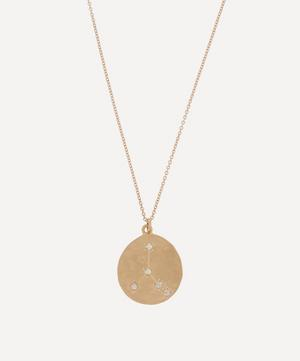 Gold Cancer Astrology Diamond Necklace