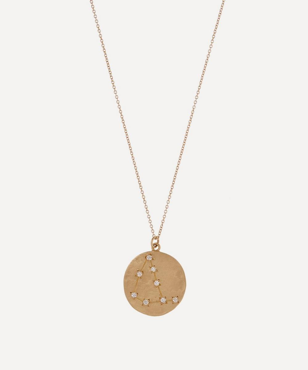 Brooke Gregson - Gold Capricorn Astrology Diamond Necklace