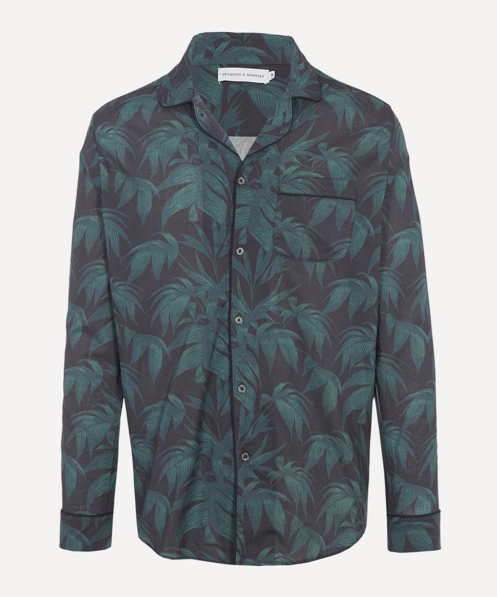 Desmond & Dempsey - Byron Print Cotton Pyjama Shirt