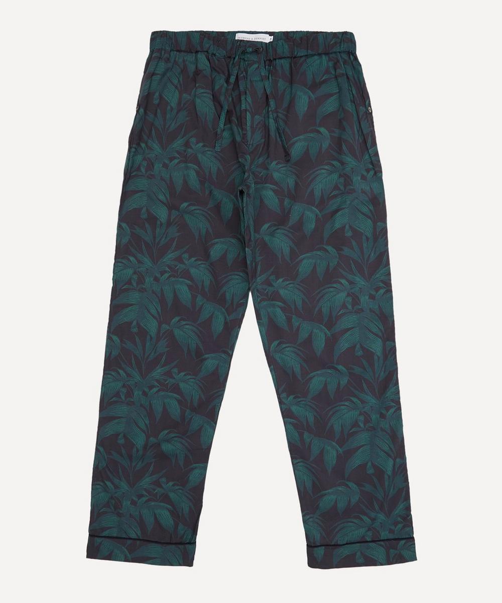 Desmond & Dempsey - Byron Print Cotton Pyjama Trousers