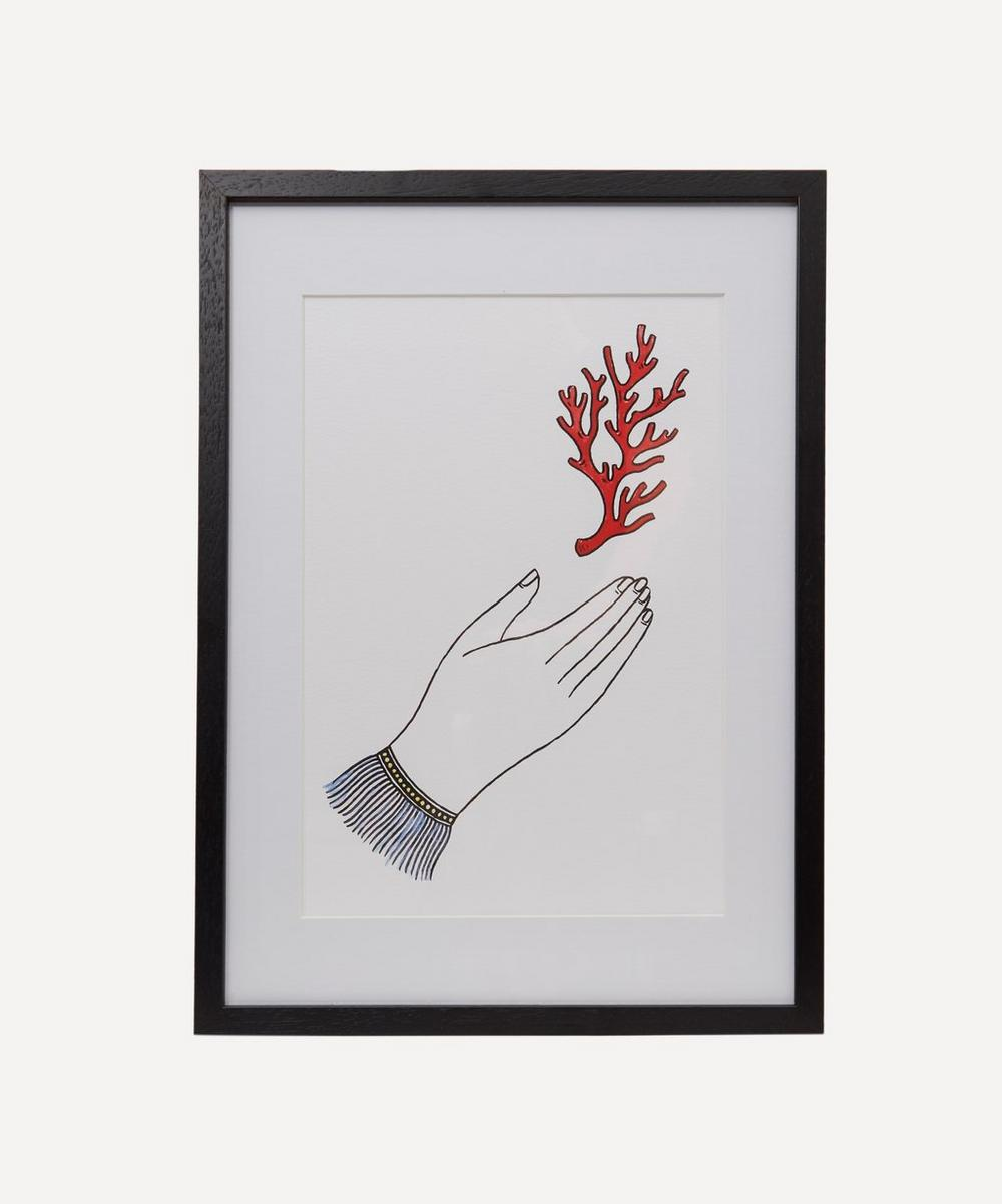 Partnership Editions - Fee Greening Coral Hand Framed Numbered Print