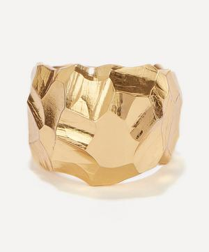 Gold Plated Vermeil Silver Rauk Wide Ring