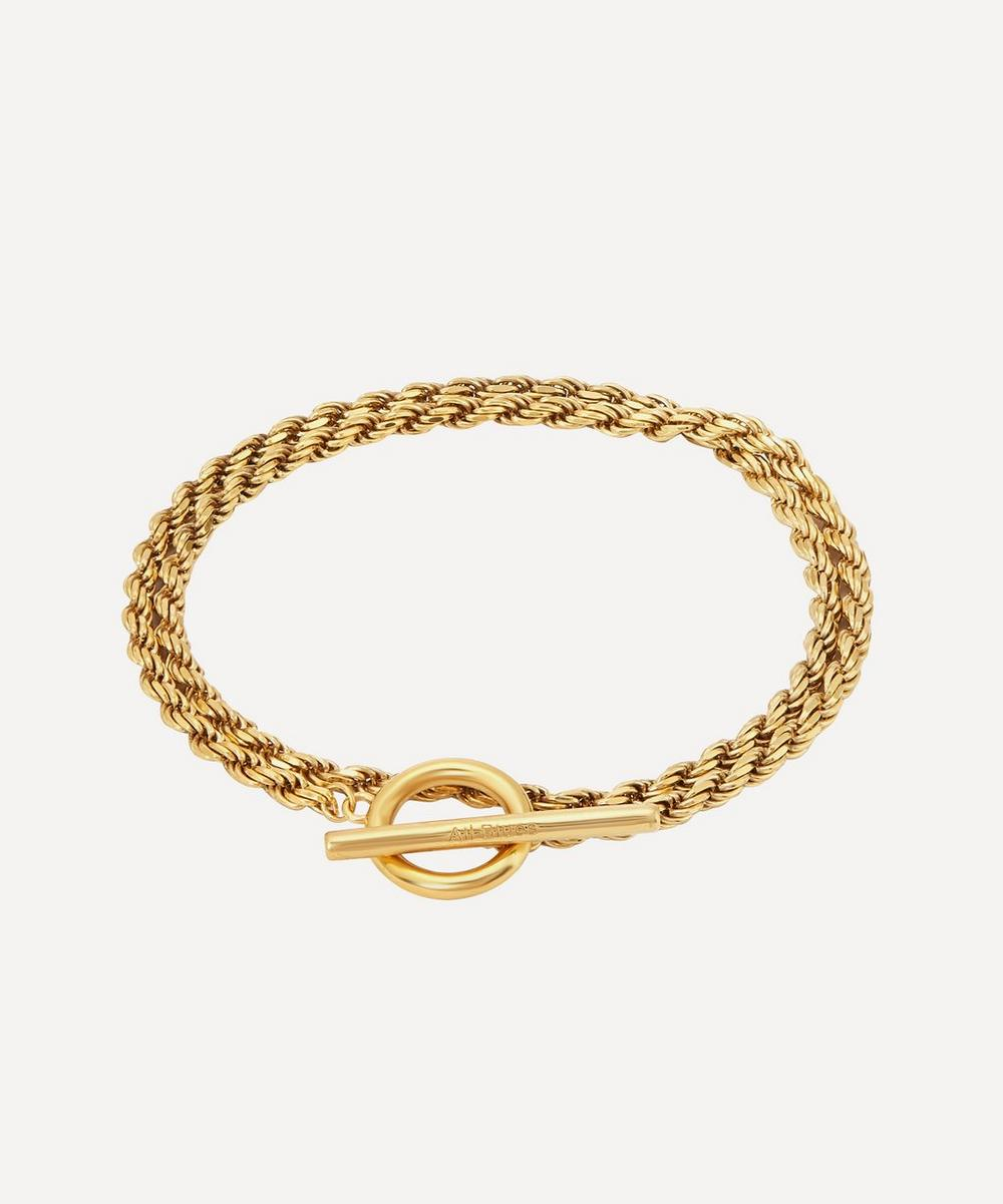 All Blues - Gold Plated Vermeil Silver Polished Rope Bracelet