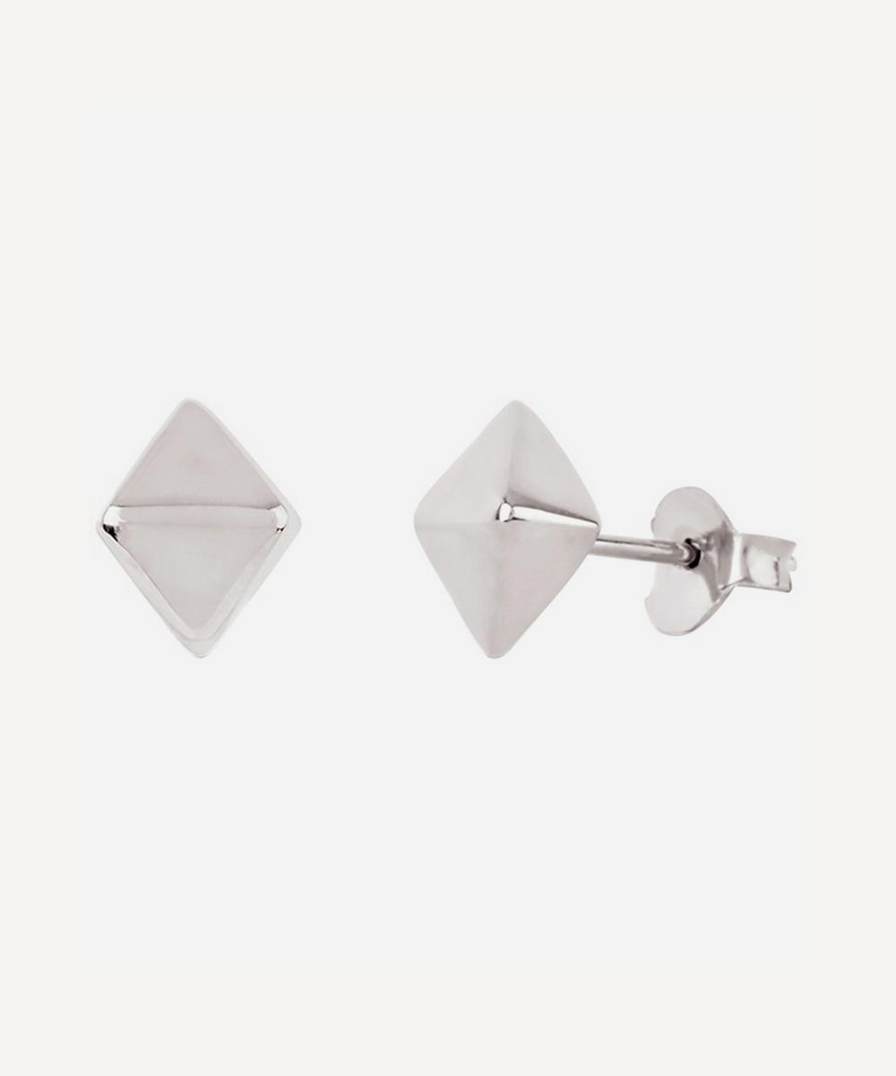 Dinny Hall - Silver Mini Almaz Stud Earrings