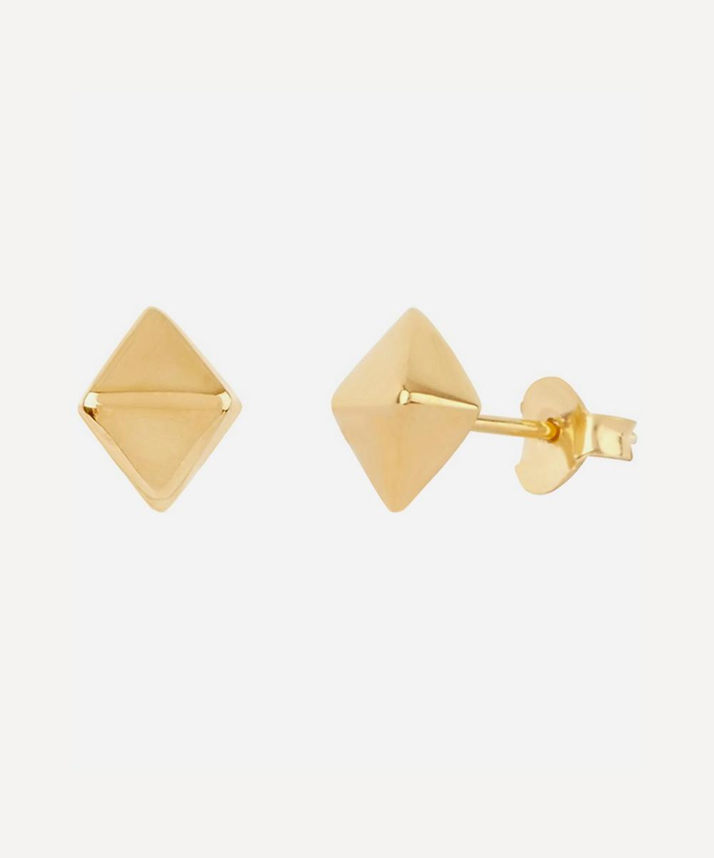 Dinny Hall - Gold Plated Vermeil Silver Mini Almaz Stud Earrings