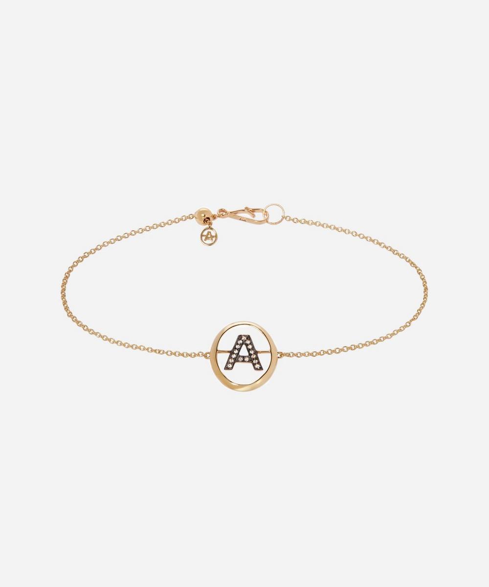 Annoushka - 18ct Gold A Initial Bracelet
