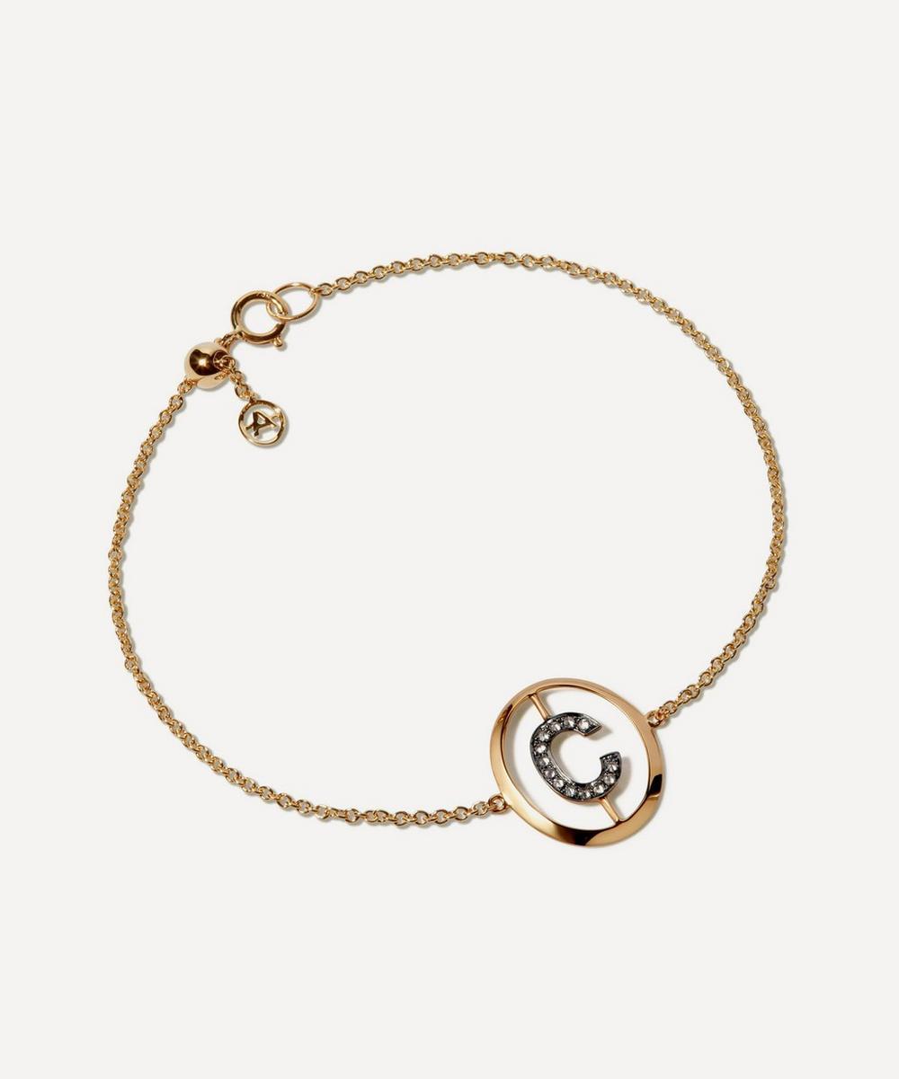 Annoushka - 18ct Gold C Initial Bracelet