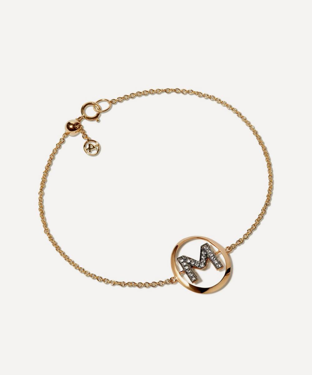 Annoushka - 18ct Gold M Initial Bracelet