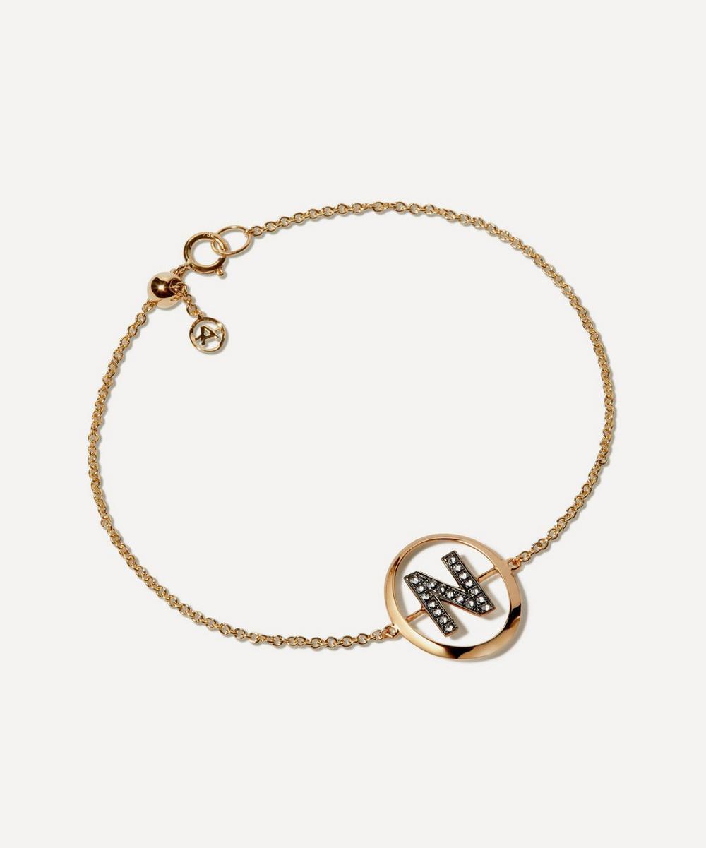 Annoushka - 18ct Gold N Initial Bracelet
