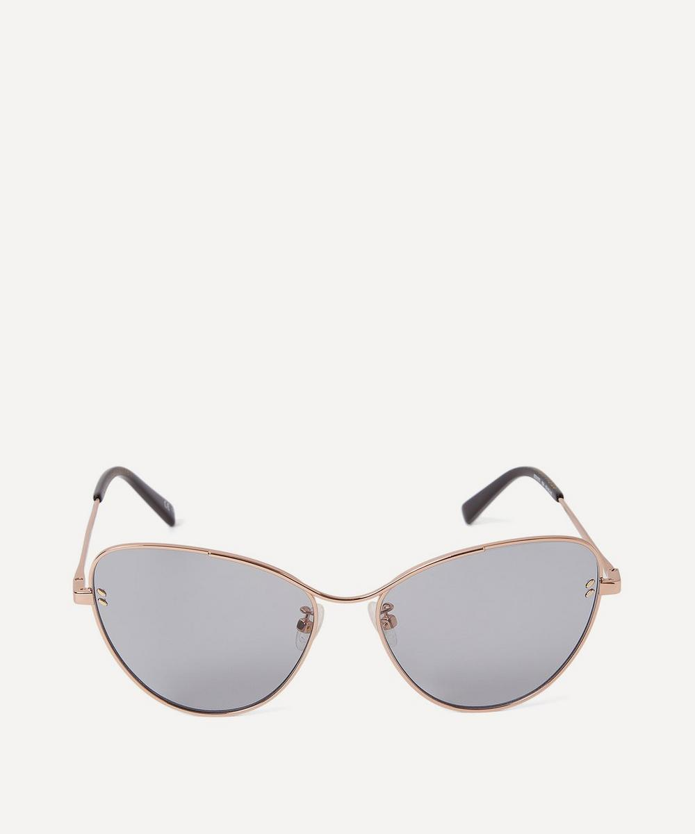 Stella McCartney - Rose Gold-Tone Metal Cat-Eye Sunglasses
