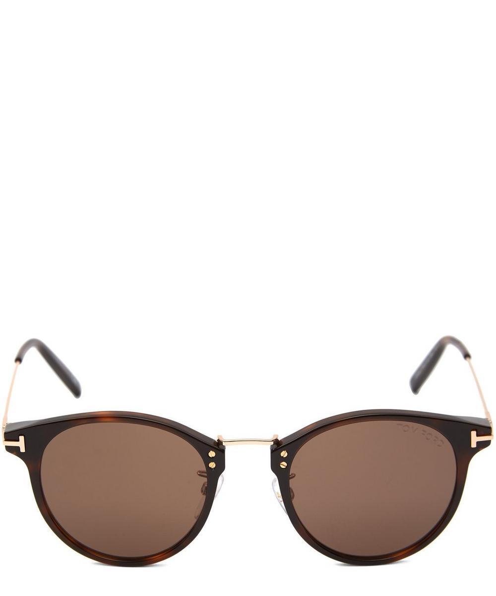 Tom Ford - Round Acetate Metal Bridge Sunglasses