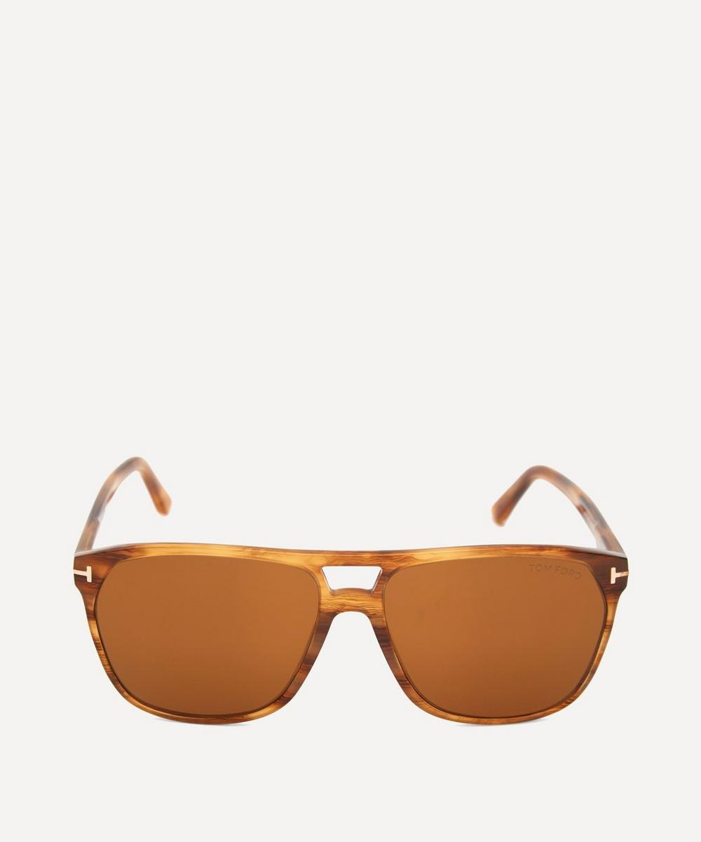 Tom Ford - Square Acetate Double Bridge Sunglasses
