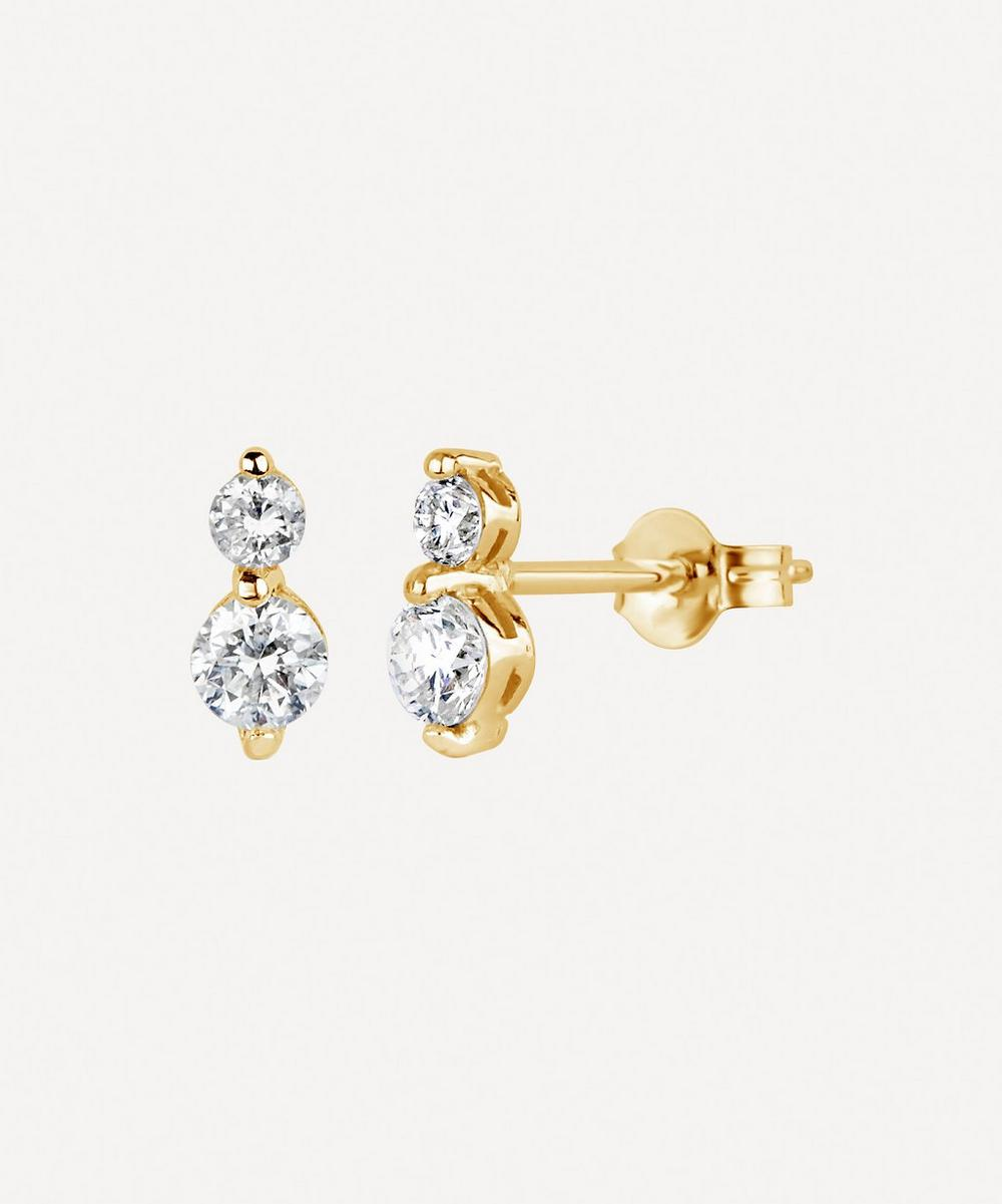Dinny Hall - Gold Shuga Double Diamond Stud Earrings