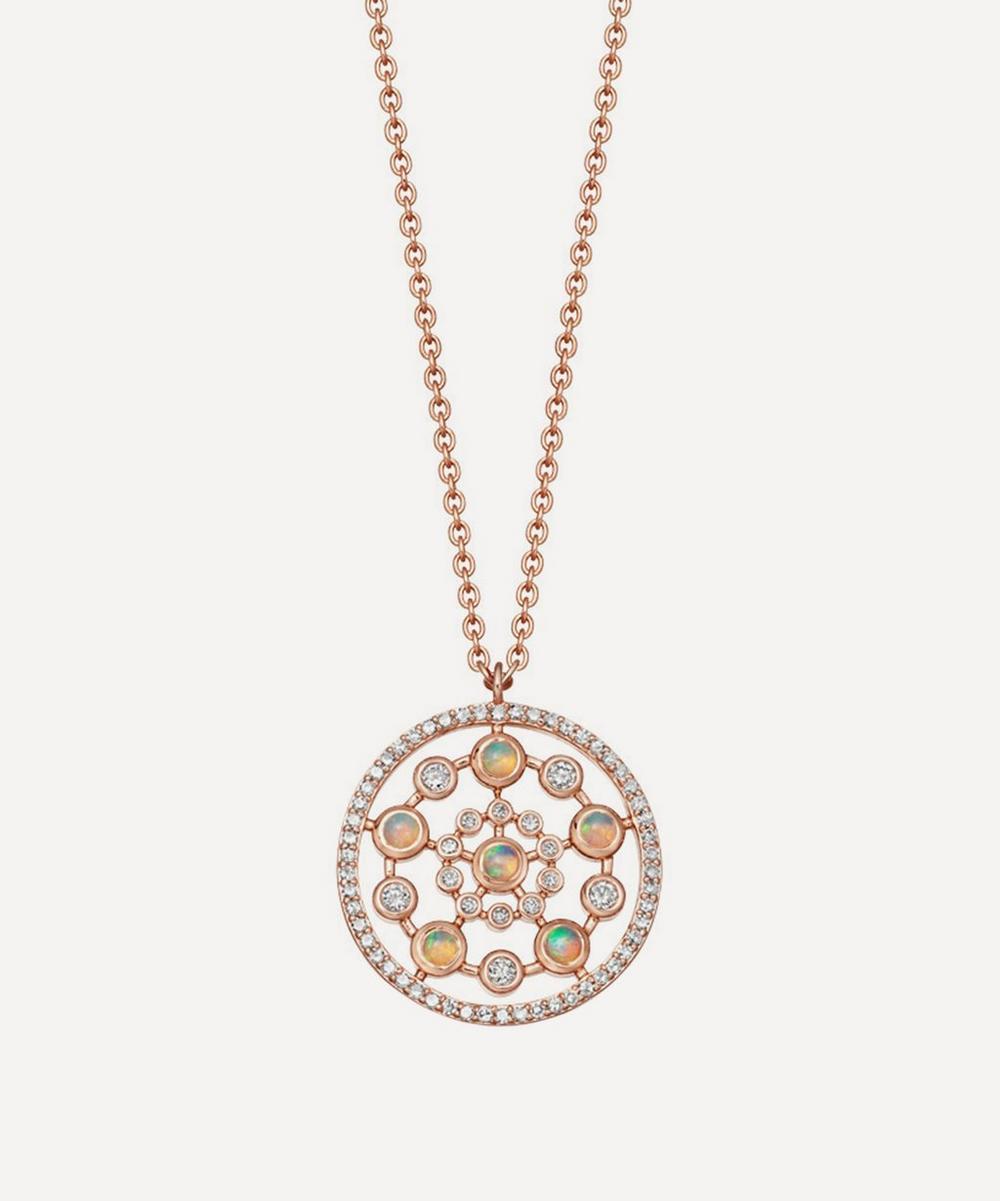 Astley Clarke - Rose Gold Icon Nova Medium Opal Pendant Necklace
