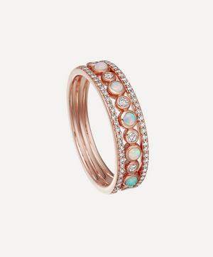 Rose Gold Triple Icon Nova Opal Ring