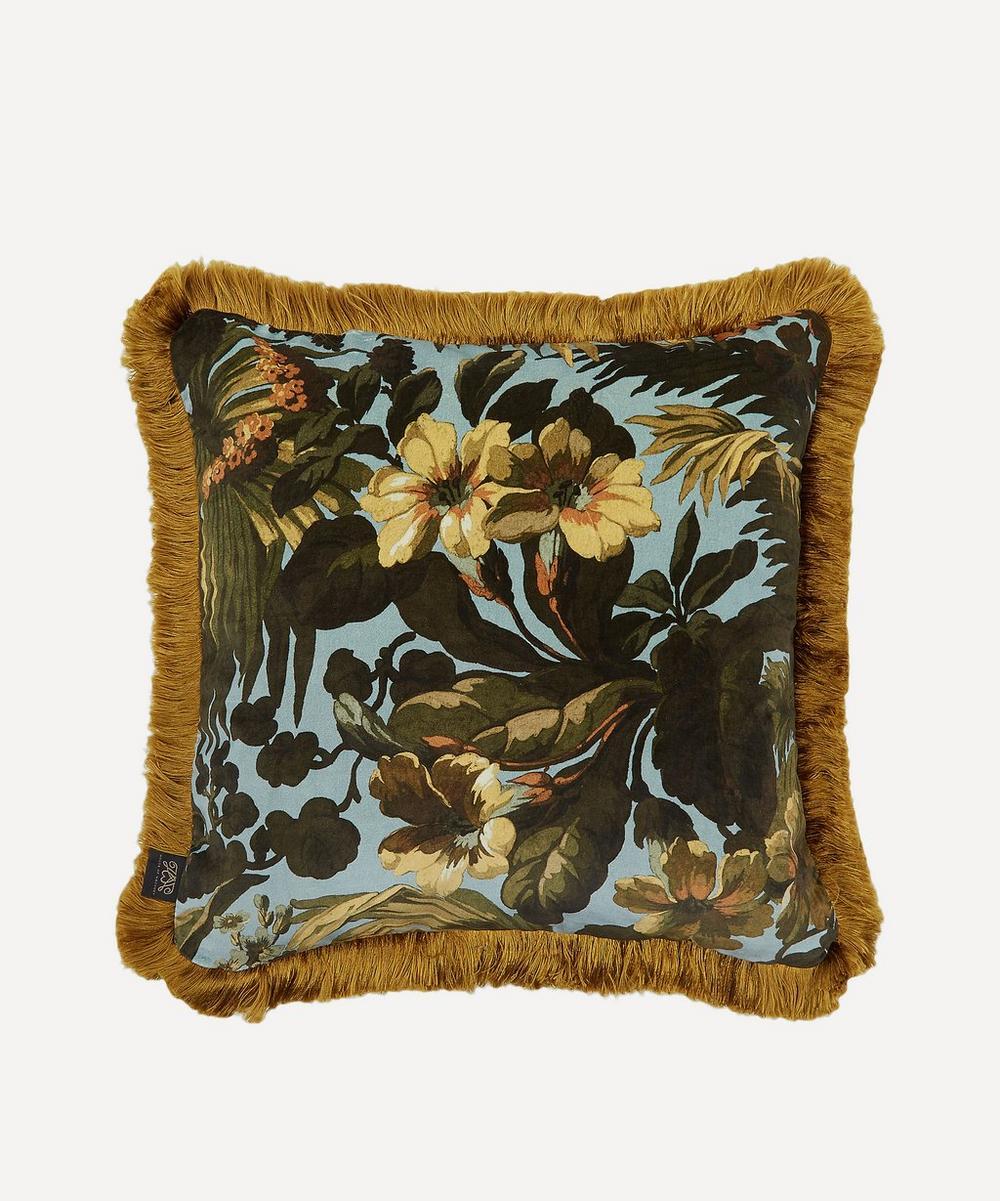 House of Hackney - Medium Limerence Fringed Velvet Cushion