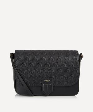 Iphis Embossed Leather Portland Cross Body Bag