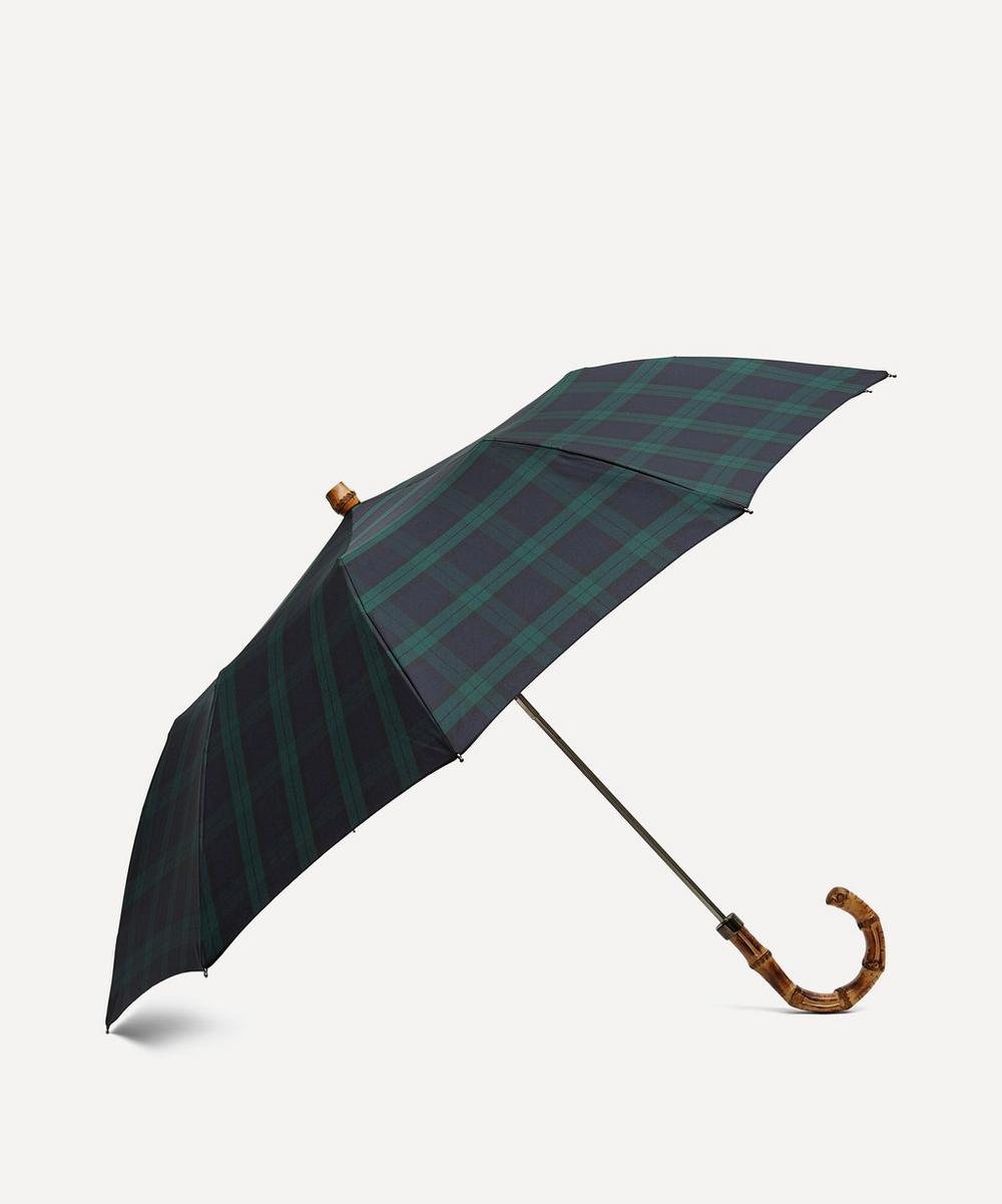 London Undercover - Tartan Whangee Handle Telescopic Umbrella