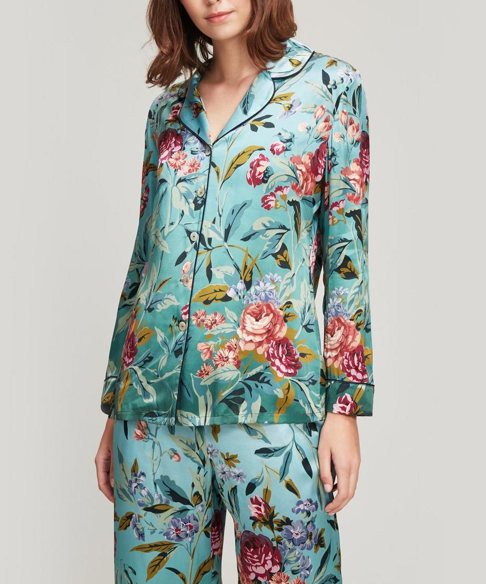 Liberty - Desert Rose Silk Satin Pyjama Set