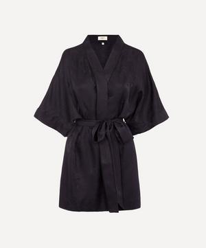 Hera Silk Jacquard Short Kimono
