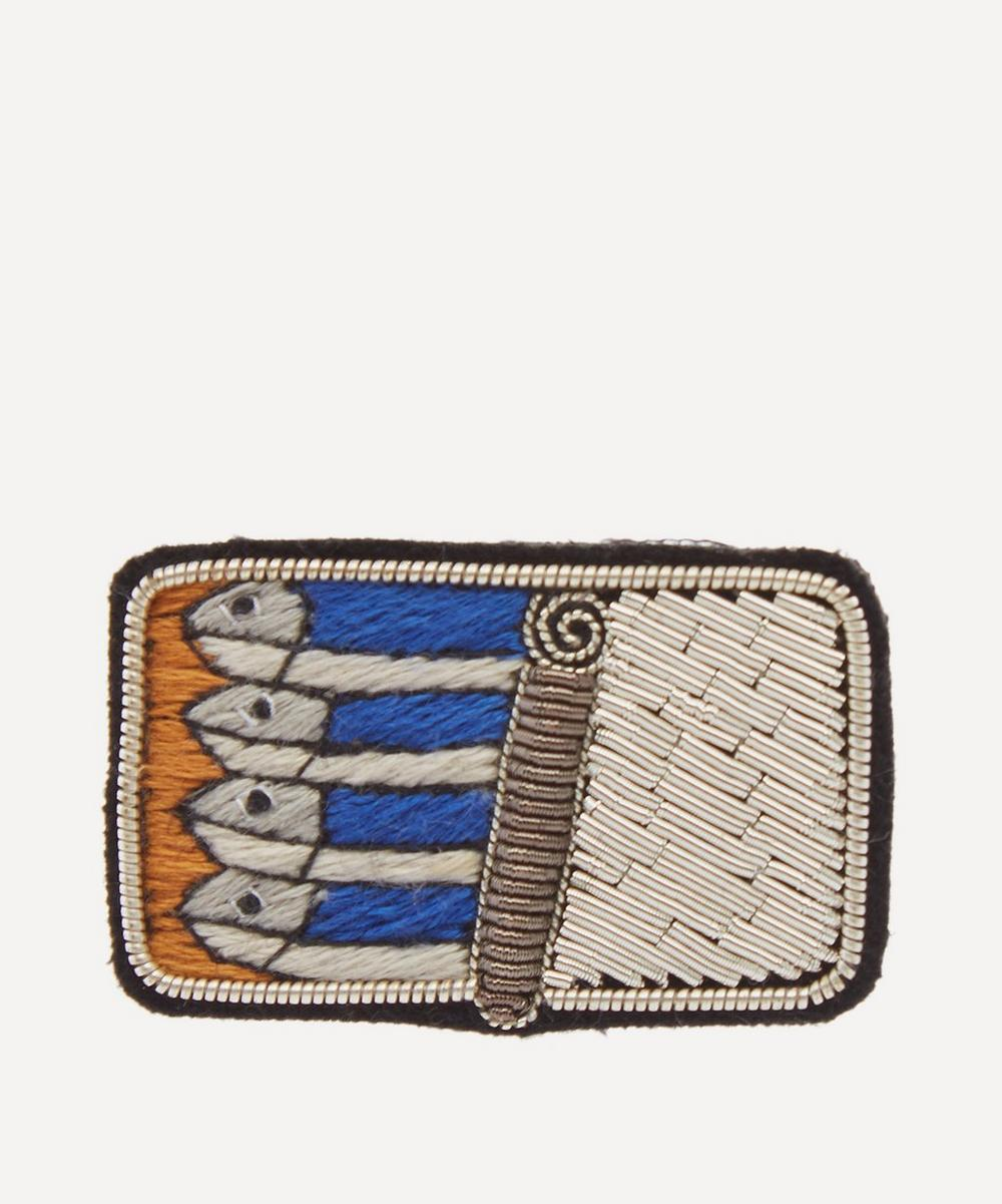 Macon & Lesquoy - Embroidered Sardines Brooch