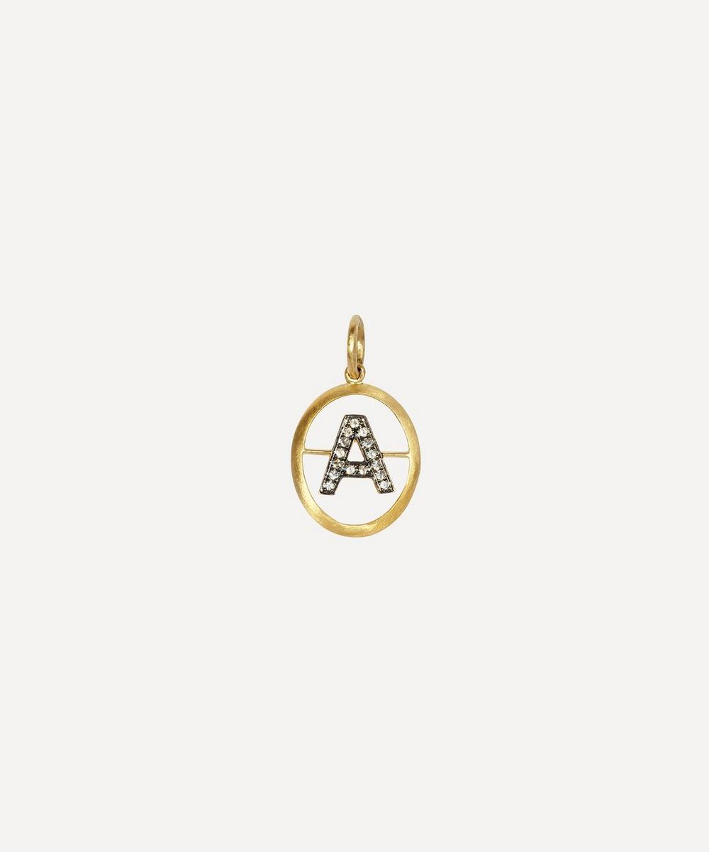 Annoushka - 18ct Gold A Diamond Initial Pendant