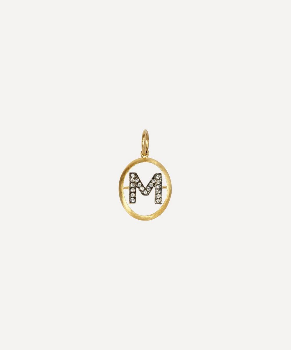Annoushka - 18ct Gold M Diamond Initial Pendant
