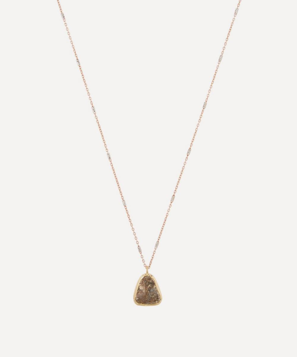 Brooke Gregson - Gold Diamond Dewdrop Necklace