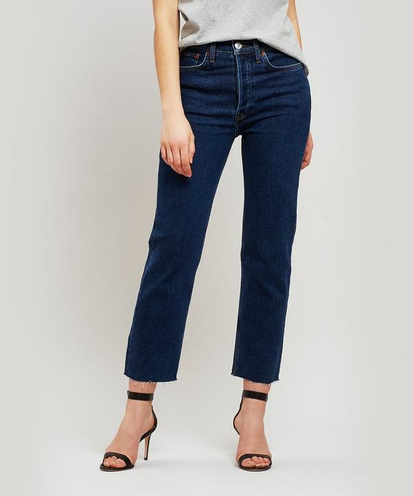 RE/DONE - Stove Pipe High Rise Jeans