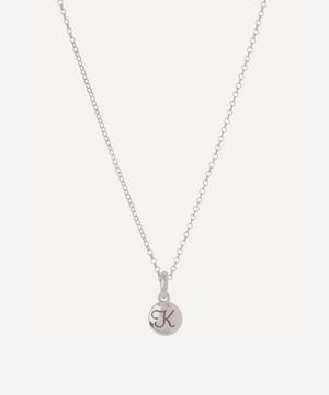 Silver Personalised Letter K Pendant Necklace