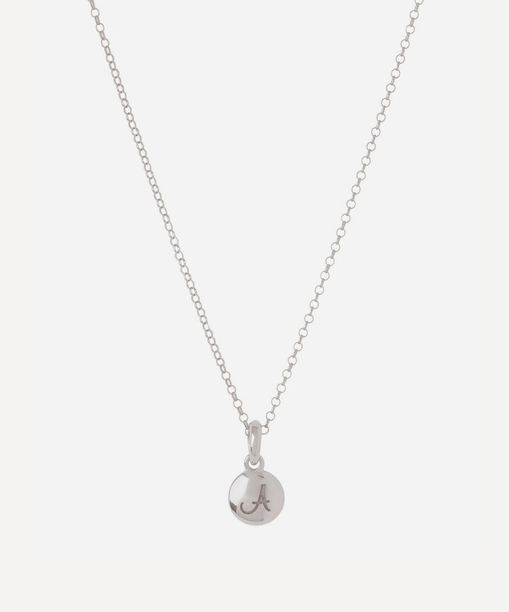 Dinny Hall - Silver Personalised Letter A Pendant Necklace