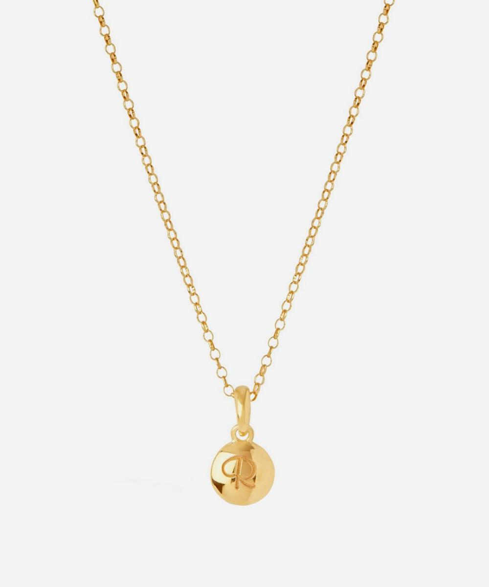 Dinny Hall - Gold-Plated Personalised Letter R Pendant Necklace