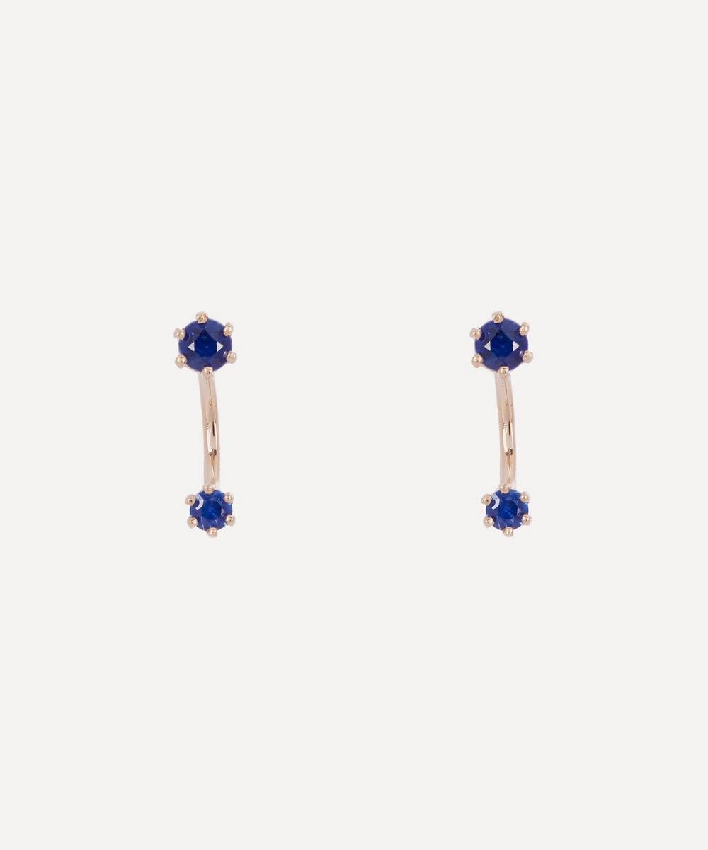 Satomi Kawakita - Gold Twin Sapphire Stud Earrings