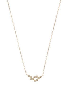 Gold Lyra Brown Diamond Necklace