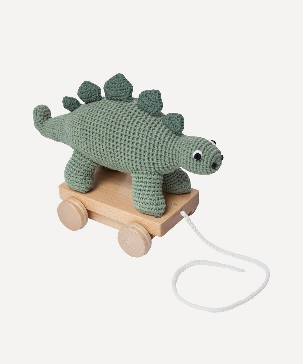 Sebra - Crochet Dino Pull-Along Toy