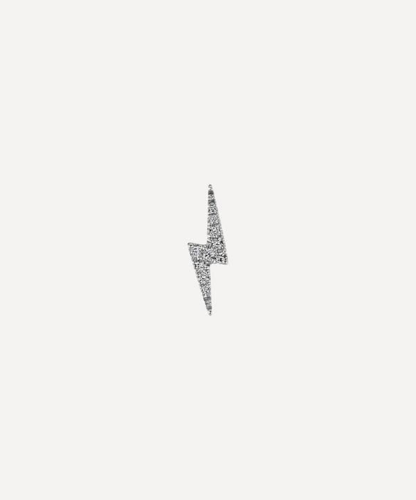 Maria Tash - Diamond Lightning Bolt Threaded Stud Earring