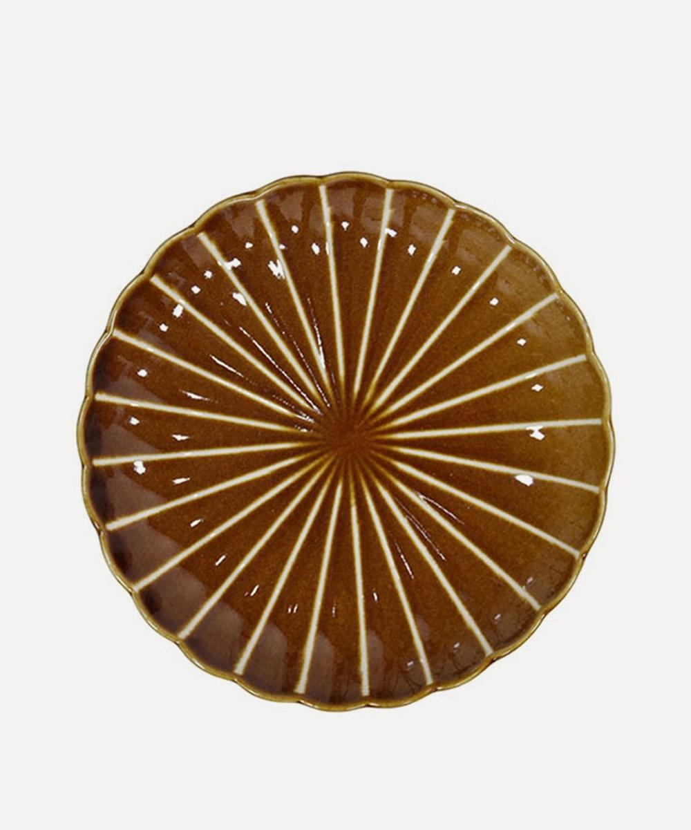 HK Living - Kyoto Ceramics Striped Dessert Plate