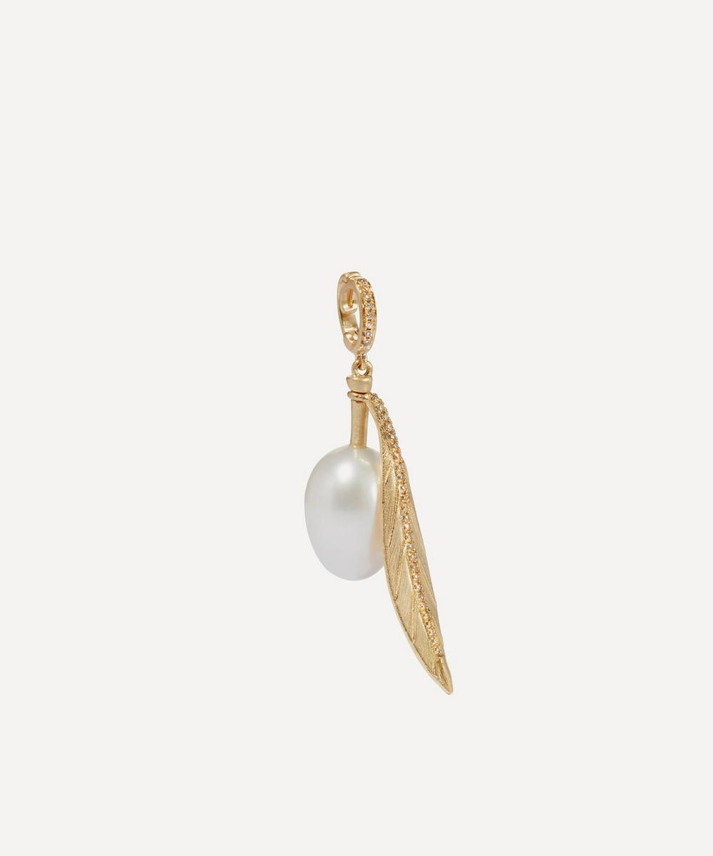 Annoushka - 18ct Gold Pearl Olive Seed Charm