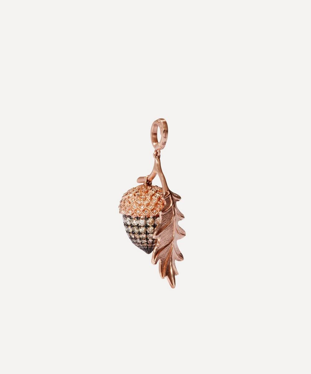 Annoushka - 18ct Rose Gold Diamond Acorn Seed Charm