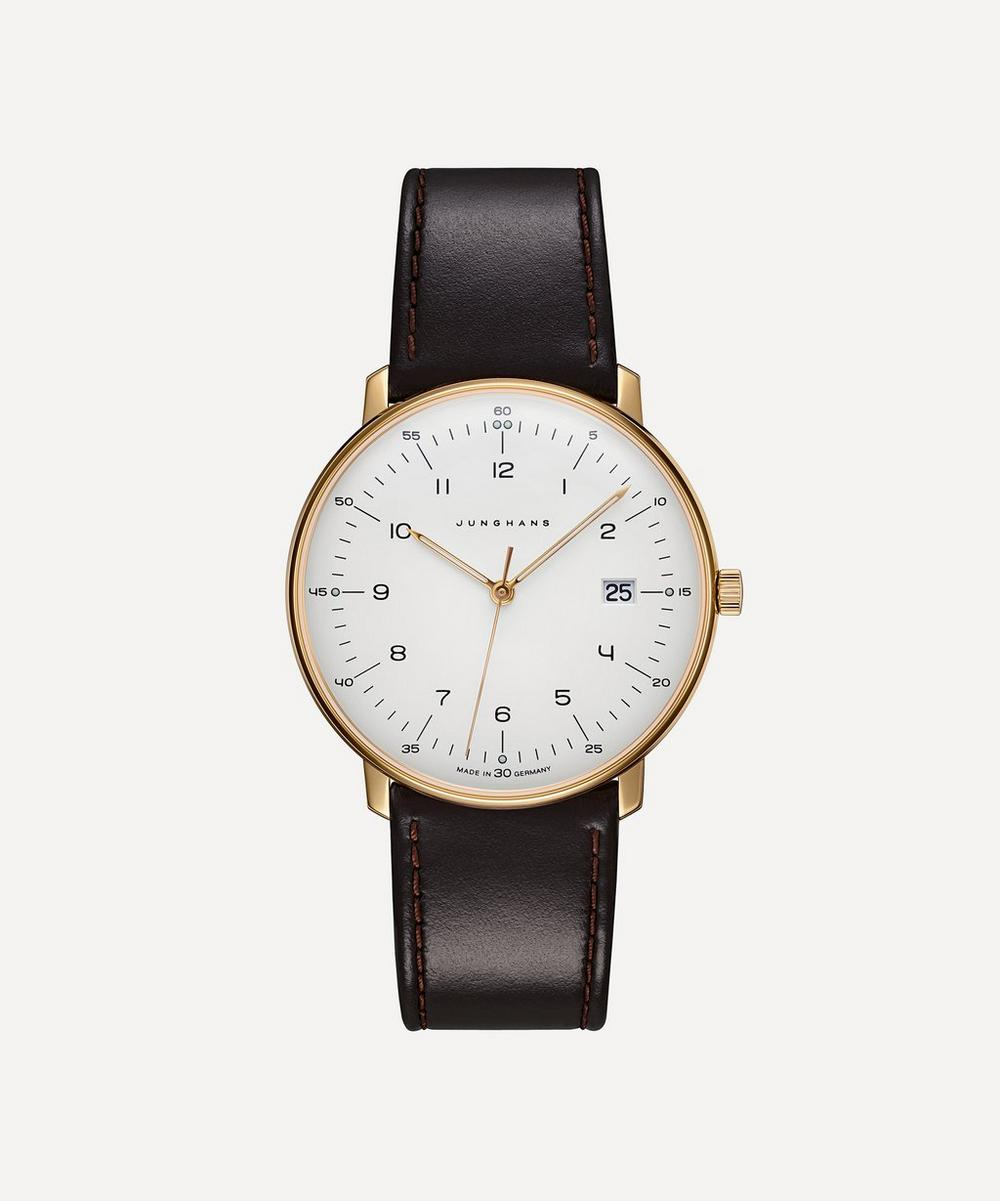 Junghans - Leather Max Bill Quartz Watch