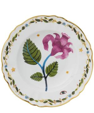 Floral Decal Deep Plate
