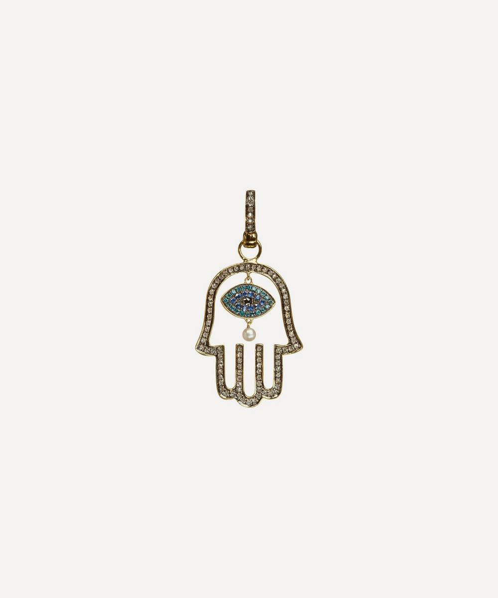 Annoushka - 18ct Gold Mythology Hand of Fatima Pendant