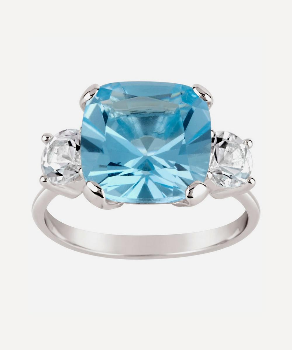 Dinny Hall - Silver Teresa Blue and White Topaz Ring