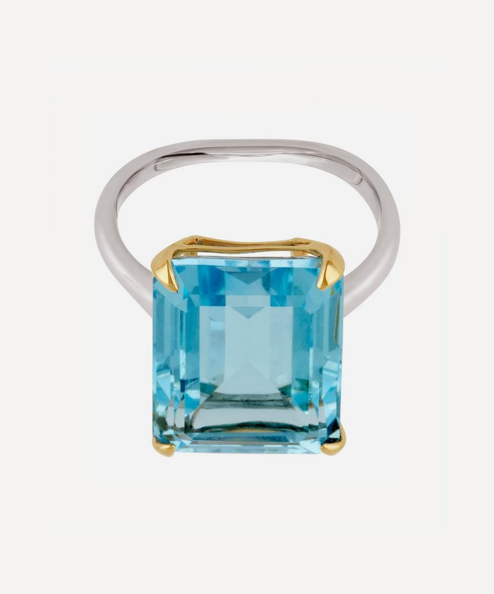 Dinny Hall - Silver and Gold Amica Blue Topaz Ring